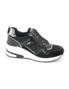 Sneaker cuña cremallera