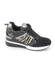 Sneaker cuña cebra