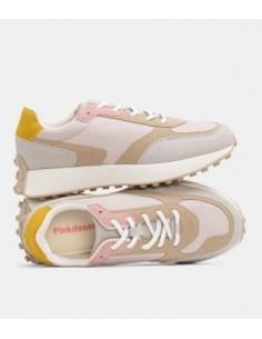Sneaker cordones combinada
